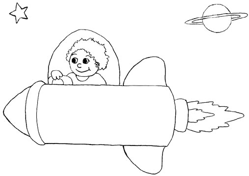 507x358 Wayne Schmidt's Free Space Ship Coloring Page
