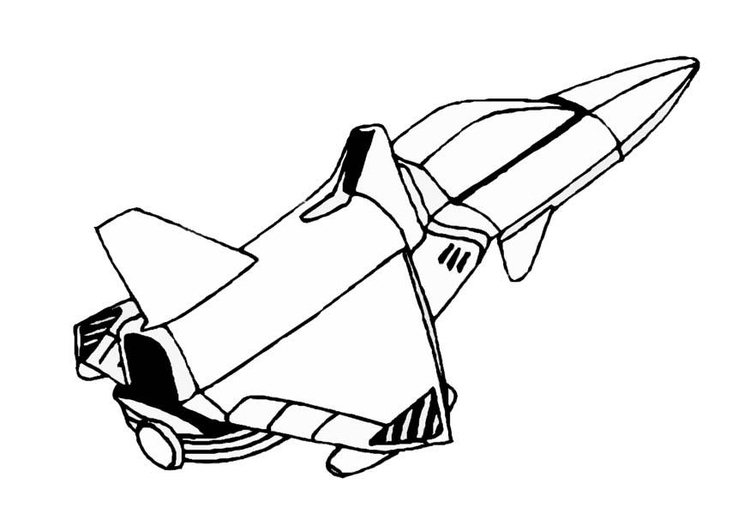 750x531 Coloring Page Space Shuttle