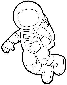 284x359 Astronaut Suit Would Be Cute During A Space Unit To Cut Out