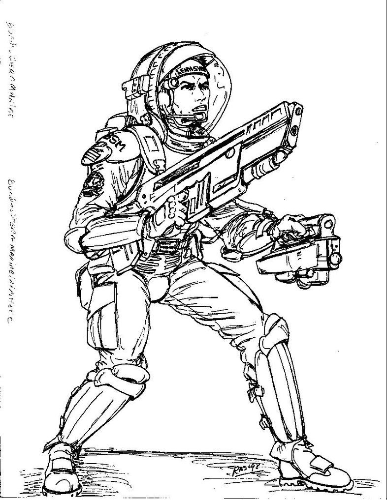 786x1017 2300ad German Military Combat Spacesuit By Spake759