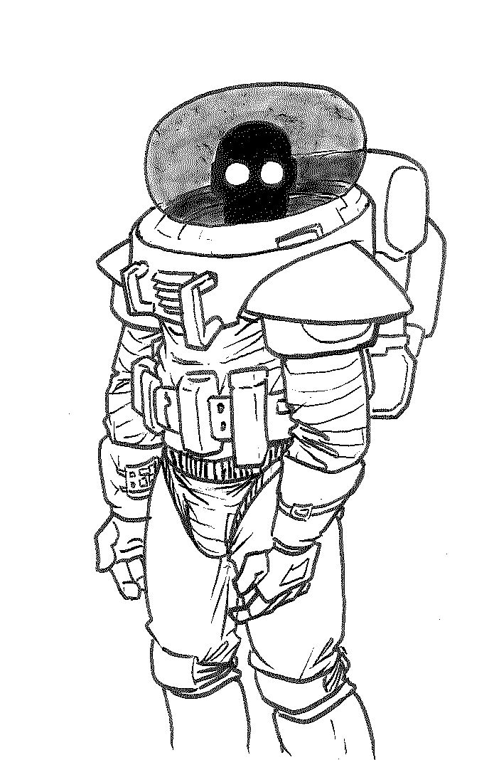 695x1068 Space Suit Drawing