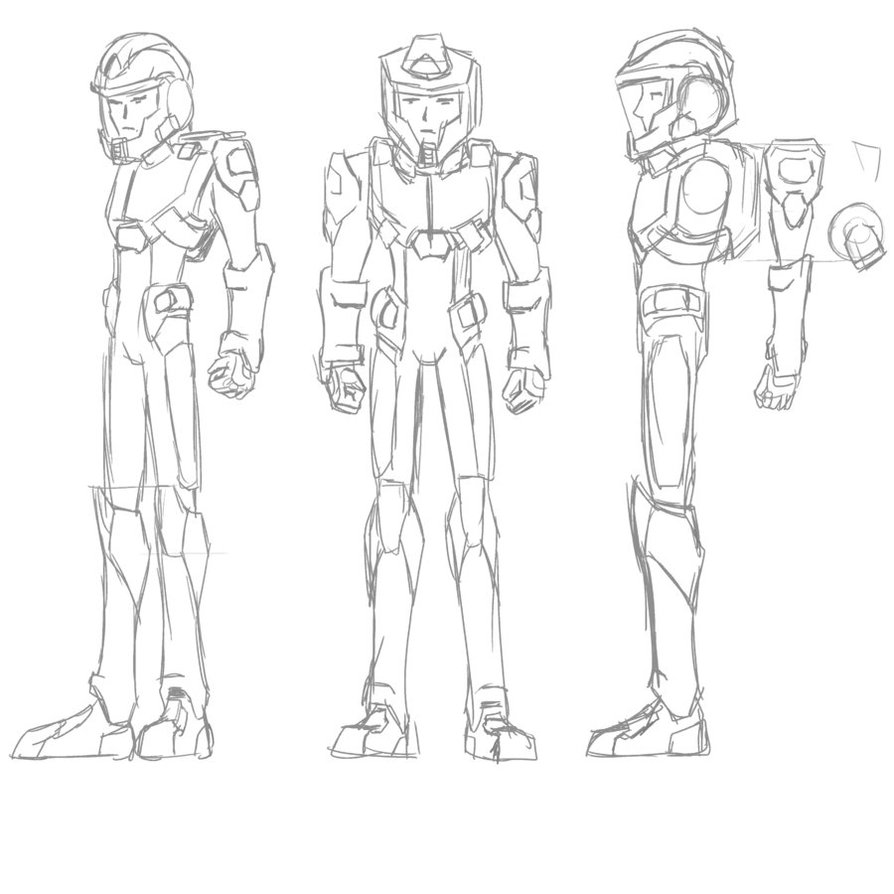 894x894 Space Suit Sketch By Chen Chan