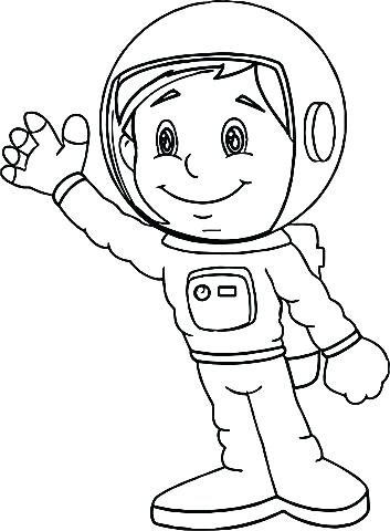 353x480 Astronaut Coloring Free Coloring Pages Of Drawing Astronaut