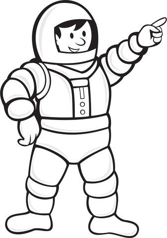 337x480 Astronaut In A Space Suit Coloring Page Free Printable Coloring