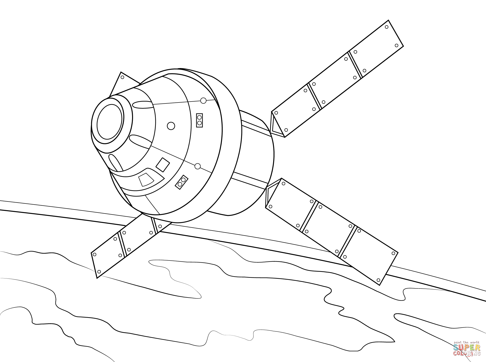 2046x1526 Satellite Spacecraft Coloring Page Free Printable Coloring Pages