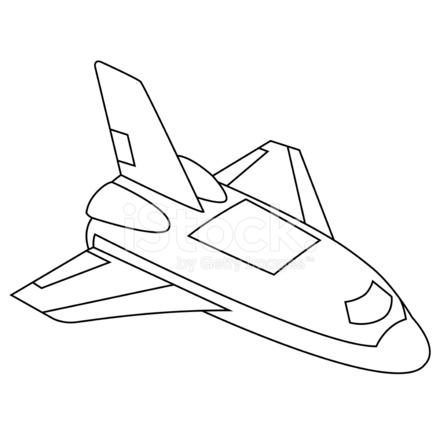 440x440 Spacecraft Stock Vector