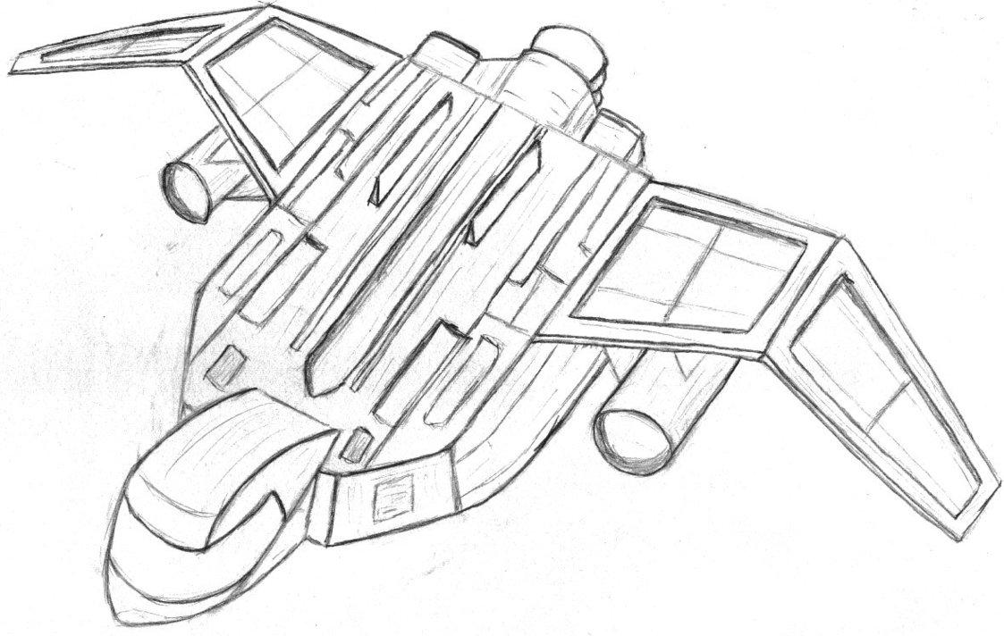 1123x712 Spaceship By Siveyn