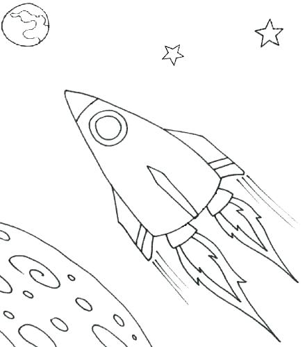 439x499 Rocket Ship Coloring Pages