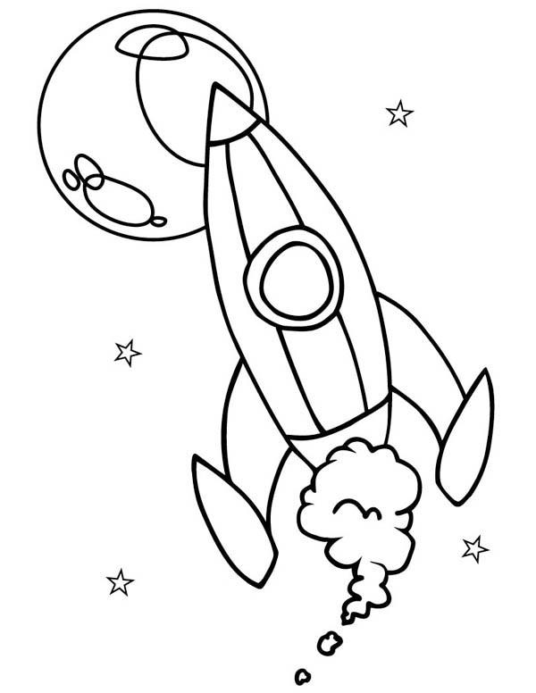 600x776 Spaceship Drawing