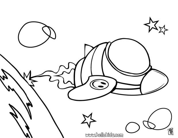 620x480 Spaceship Coloring Pages