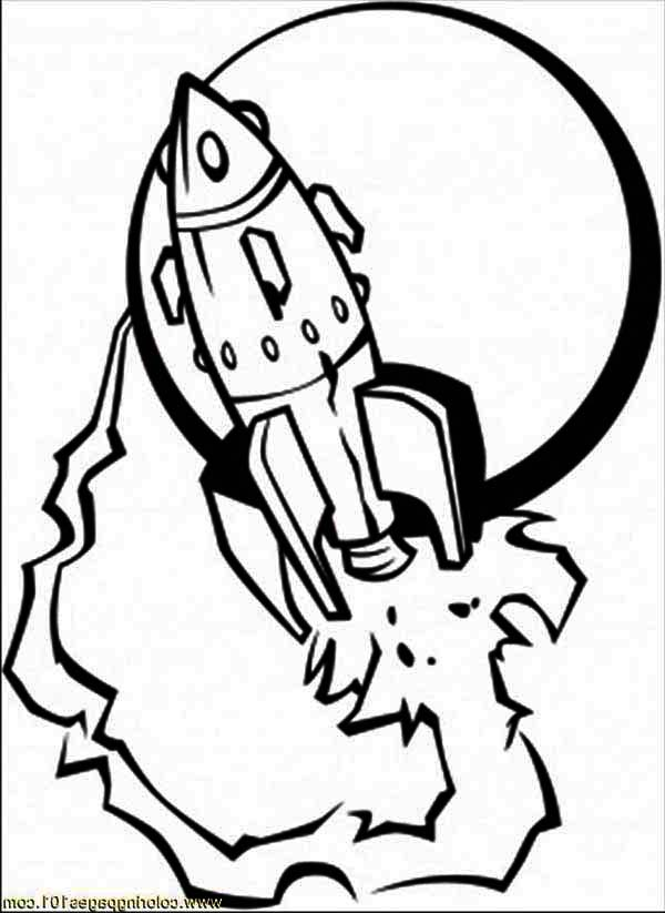 600x823 Spaceship And The Moon Coloring Page