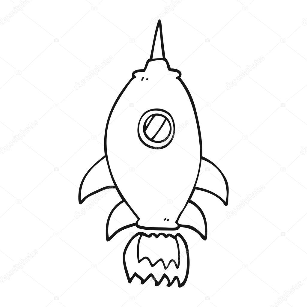 1024x1024 Spaceship Doodle Icon Stock Vector Lineartestpilot