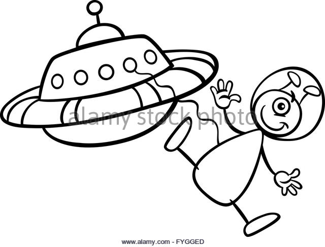 640x487 Cartoon Alien Spaceship Flying Saucer Stock Photos Amp Cartoon Alien