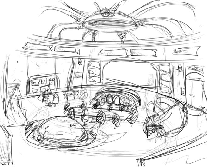 683x553 Inside Spaceship Sketch