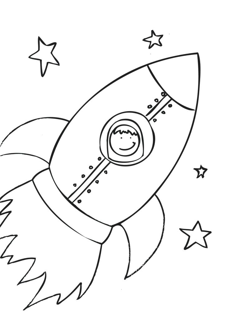 728x1027 Rocket Ship Coloring Pages Also Incredible Decoration Spaceship