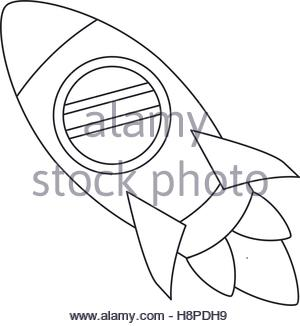 300x326 Rocket Draw Icon. Spaceship Aircraft Start Up And Shuttle Theme