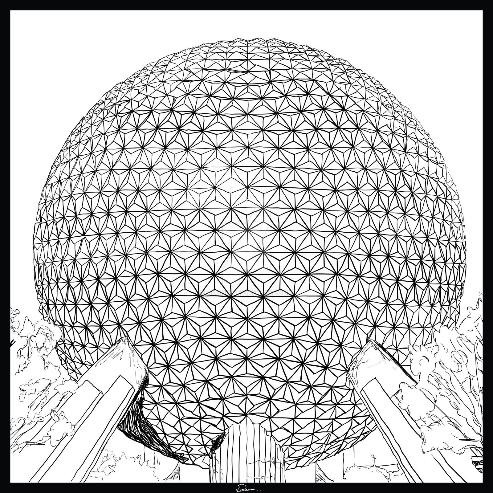 1600x1600 Spaceship Earth By Adunc
