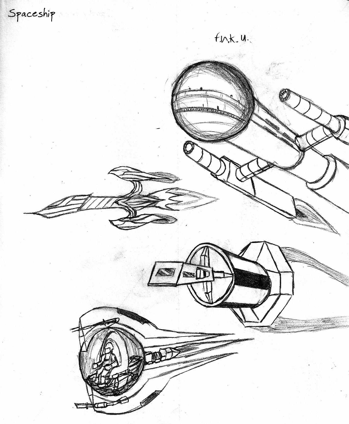 1423x1731 Spaceship Weasyl