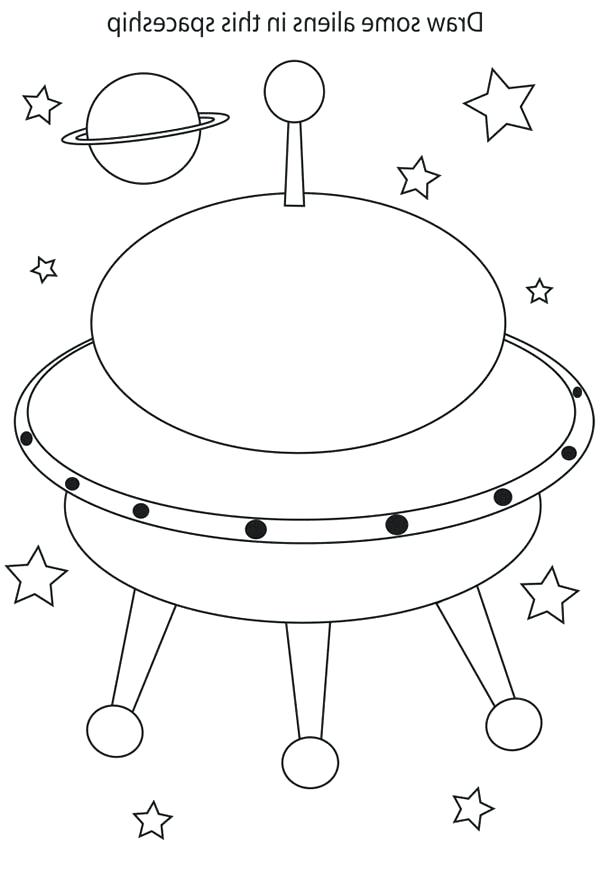 600x874 Star Wars Spaceship Coloring Pages Drawing Alien In Page Space