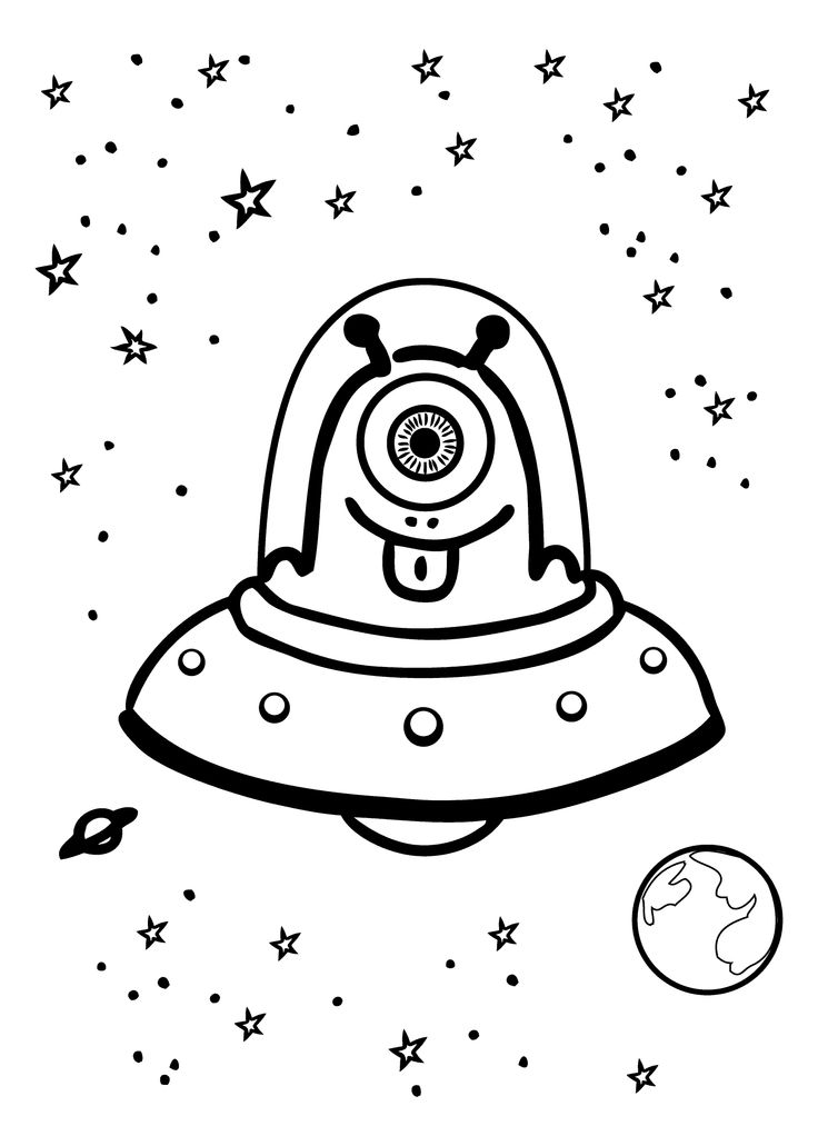 736x1031 Ships Color Clipart With Alien