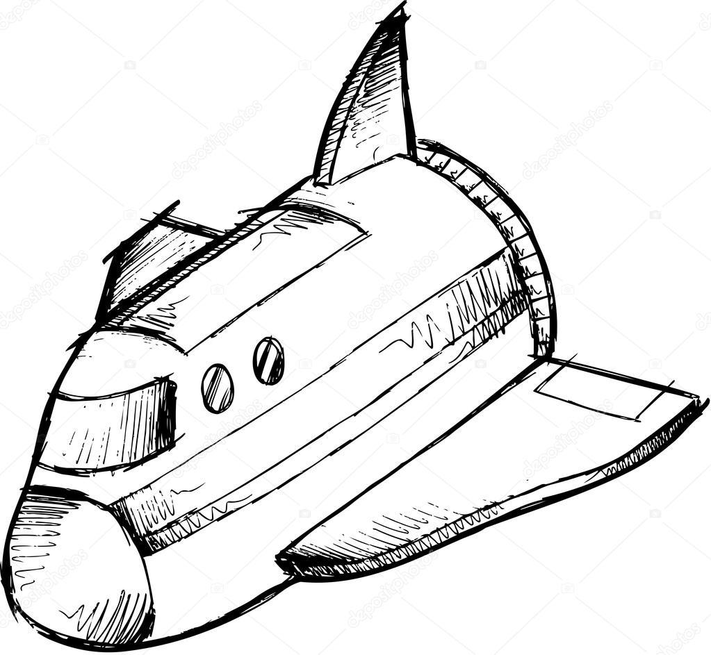 1023x943 Spaceship Sketch Doodle Vector Illustration Art Stock Vector