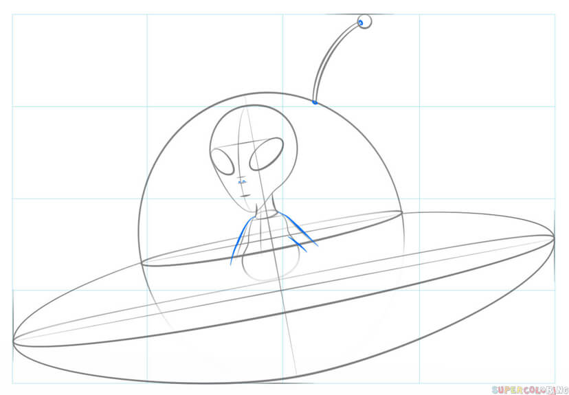 828x575 How To Draw An Alien Spaceship Step By Step Drawing Tutorials