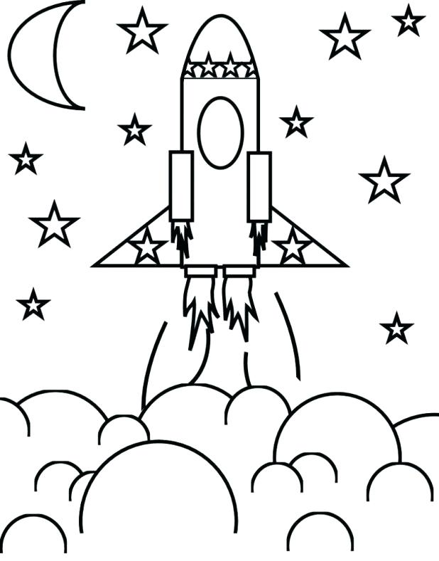 618x789 Outer Space Coloring Pages To Print Outstanding Buzz Spaceship Big