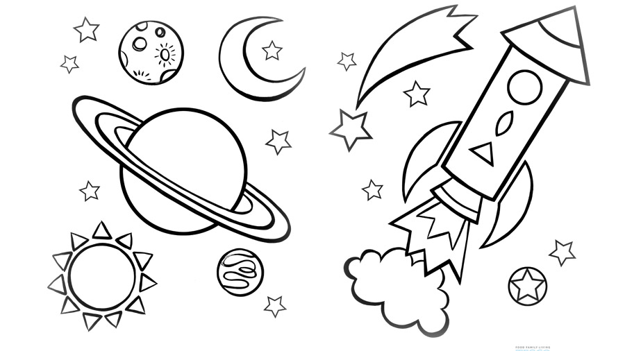 900x506 Space Coloring Sheets For Kids Planet Coloring Sheets