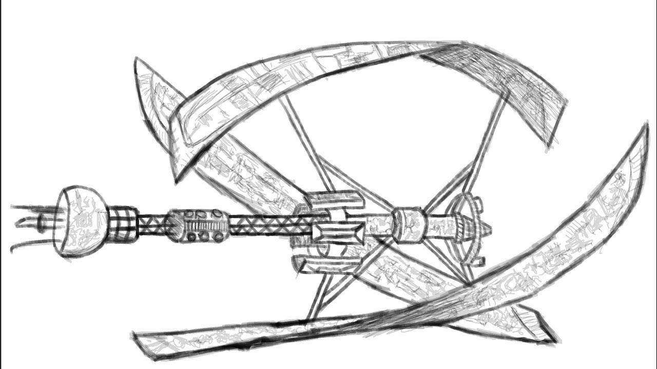 1280x720 Starship Avalon Drawing