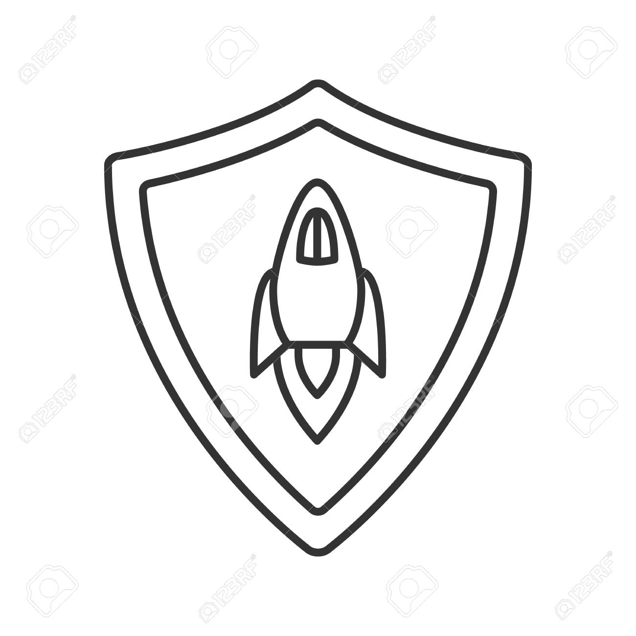 1300x1300 Startup Projects Protection Linear Icon. Thin Line Illustration