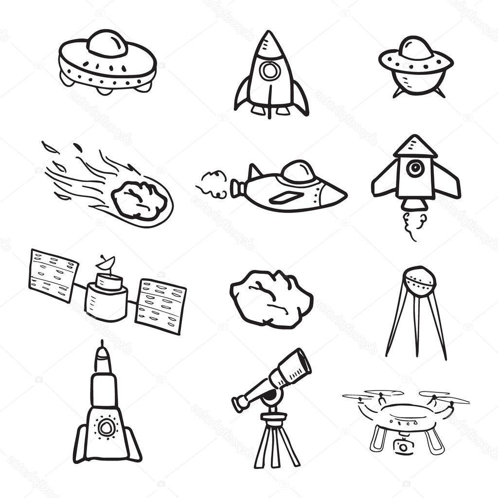 1024x1024 Top Cartoon Spaceship Drawing Vector Pictures Free Vector Art