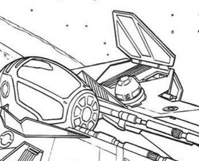 389x316 Spaceship Of Anakin Coloring Page