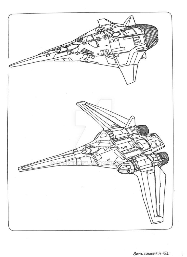 762x1048 Spaceships Fighter 4 By Gh0stmutt