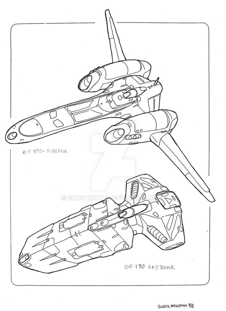 762x1048 Spaceships Fighter By Gh0stmutt