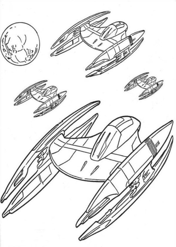 600x841 Star Wars Spaceships Coloring Pages