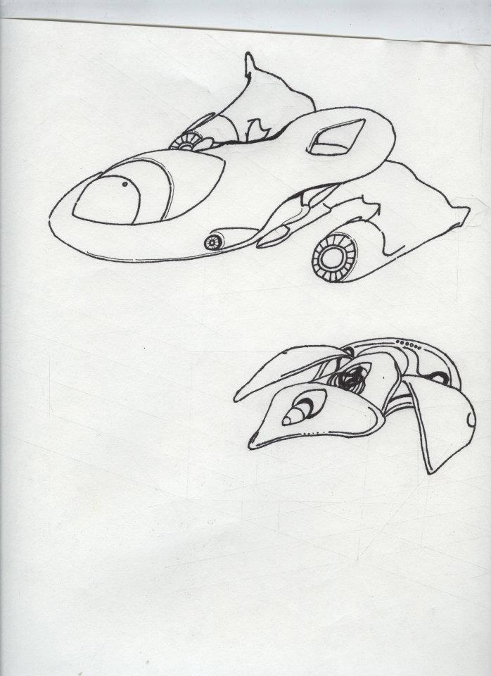 698x960 Vehicle Spaceship Object Designs Arthur Davis Jr.