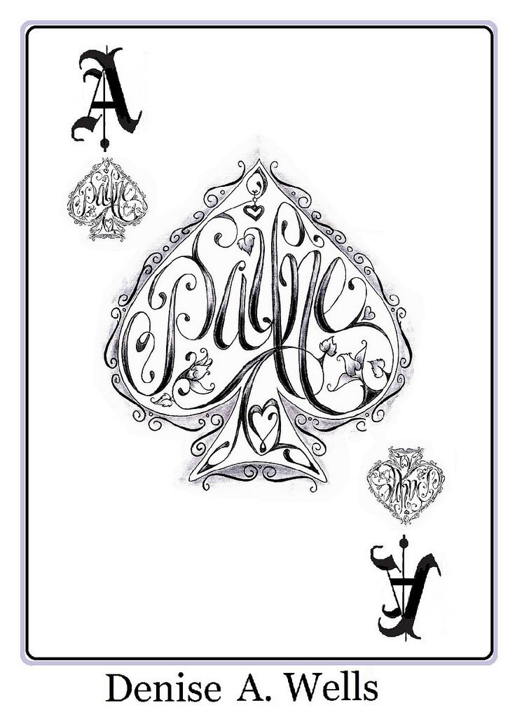 745x1024 Payne Name Tattoo Made Into The Shape The Ace