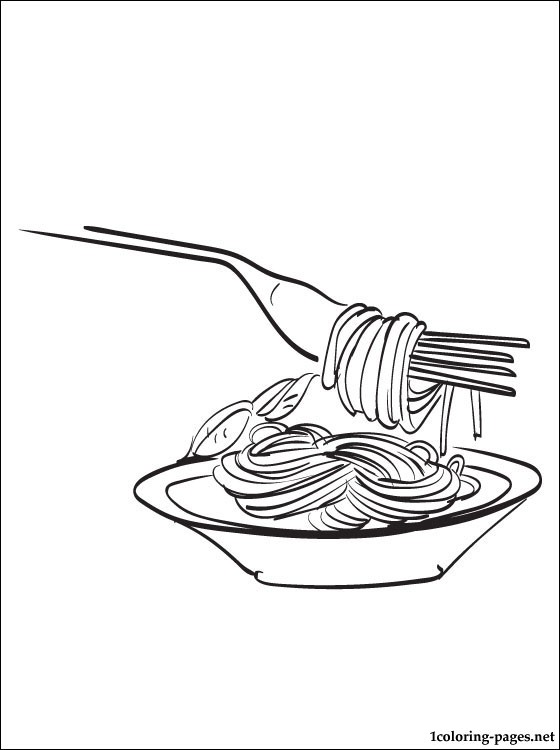 560x750 spaghetti coloring page coloring pages