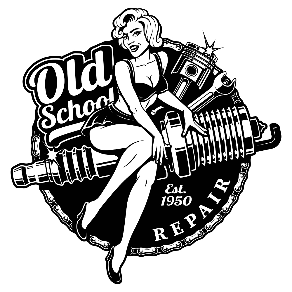 1000x1000 Spark Plug Pin Up Girl. Created By Harry Kasyanov Motorcycle