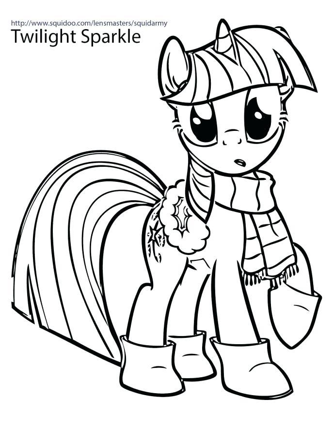 My Little Pony - Stylish Twilight Sparkle Coloring Page ... |Twilight Sparkle Face Coloring Page