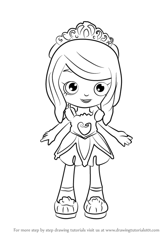 566x800 Learn How To Draw Tiara Sparkles From Shoppies (Shoppies) Step By
