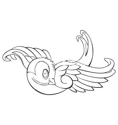 380x400 Drawn Lovebird Sparrow