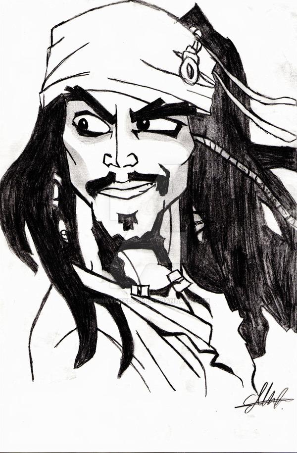 600x915 Gallery Jacks Sparrow Cartoon Pencil Drawing,
