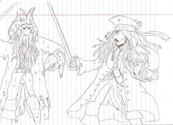 604x437 Sam's Comic Relief Jack Sparrow Vs Davy Jones