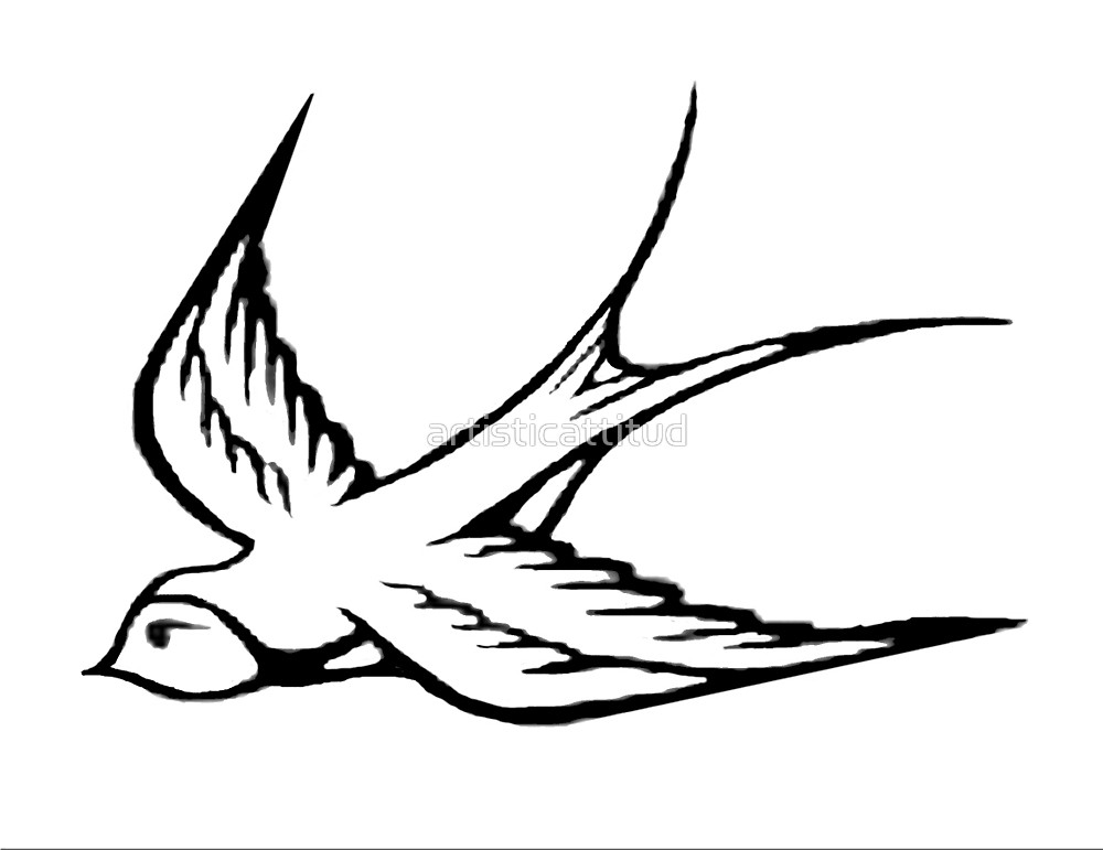 1000x771 Simple Black White Sparrow Drawing By Artisticattitud Redbubble