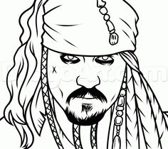 236x210 How To Draw Jack Sparrow Easy Step 4 Drawing Jack
