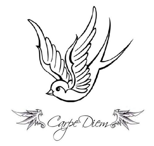 500x474 Carpe Diem Sparrow Tattoo Picture At Checkoutmyink