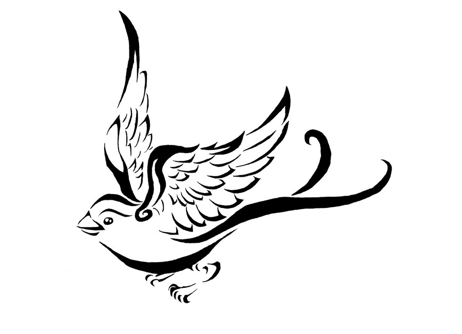 900x652 Sparrow Tattoo Drawings