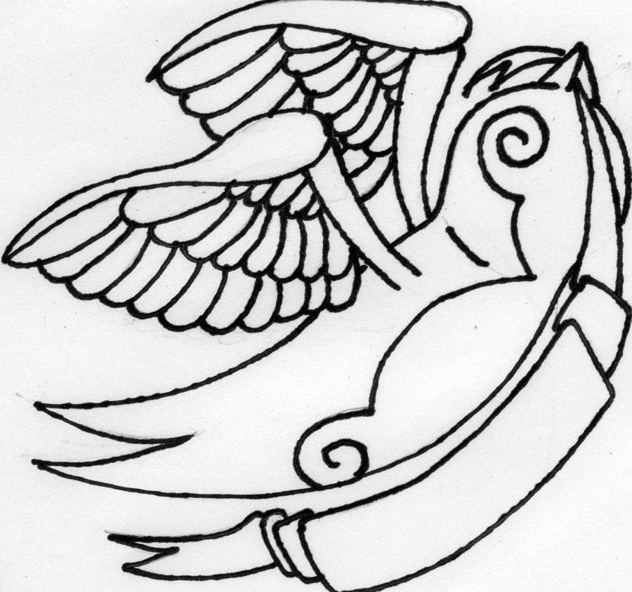 900x844 Sparrow Tattoo Design By Alex Owen