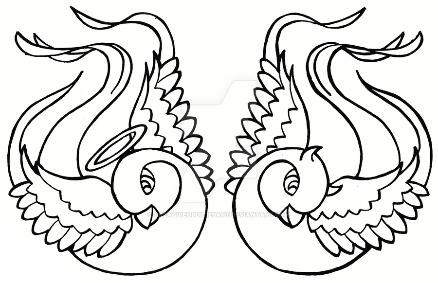 900x582 Sparrows Tattoo Design By Creativeodditiesart